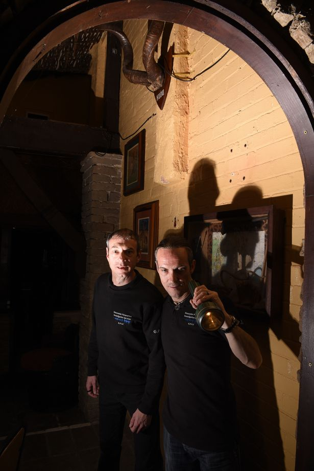 Paul-Cowmeadow-and-Edward-Francis-investigate-The-New-Inns-CellarGloucester-Paranormal-Investigation-Services-The-New